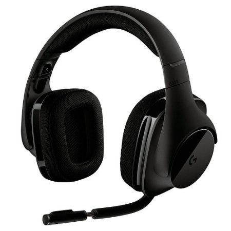 Headset Gamer Wireless 2.4Ghz Logitech G533 Pro-G, Dts 7.1 Surround, 981-000633