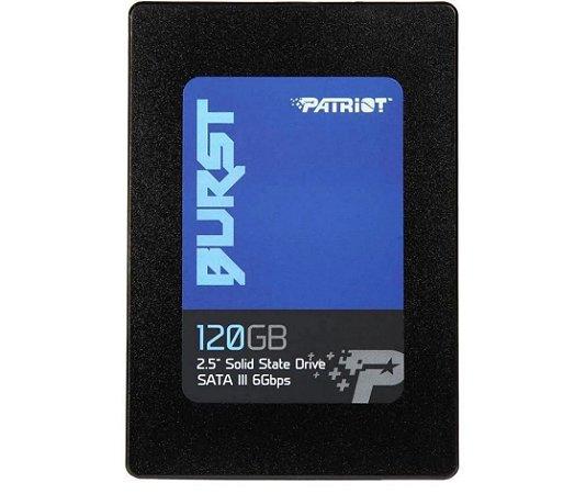 Ssd Sata3 120 Gb Patriot Burst, Leitura 560 Mb/S, Gravação 540 Mb/S, Pbu120Gs25Ssdr