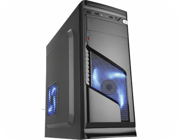 Computador Gamer Intel 9100f, Mem. 8Gb, Ssd 120Gb Adata, Placa Mae 9ª Ger Asrock, Gab. CG-02R6, Fonte 500W, Vga 1050Ti