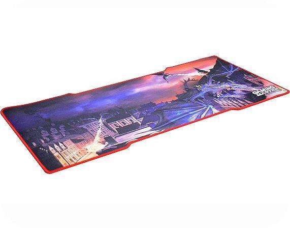 Mousepad Gamer Kmex Fx-X8235 Dragon, 35X80Cm, 3Mm Espessura, Dimensão Gamer, Excelente Fixação