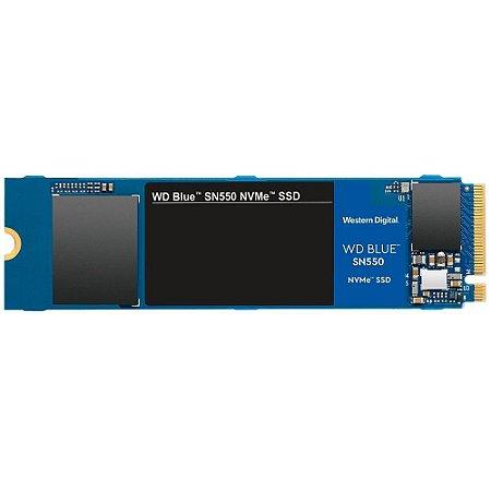 Ssd Nvme 500 Gb Western Digital Sn550 Blue, Lê: 2.400 Mb/S, Grava: 1.750 Mb/S, M2, Wds500G2B0C