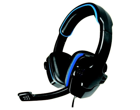 Headset Gamer Kmex Ar-S501, Stereo, Preto Com Azul, Com Microfone, Gaming