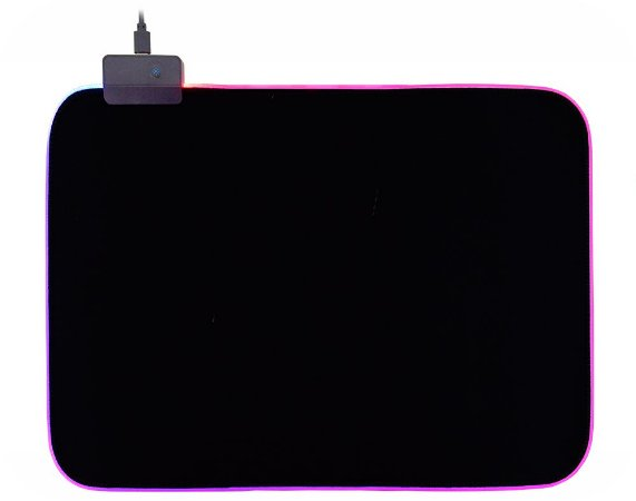 Mousepad Gamer Kmex Fx-X4025 Gms-X3, Com Bordas Rgb, 35.0Cmx25.0Cm*3Mm, Cabo 1.8 Mts, 7 Cores
