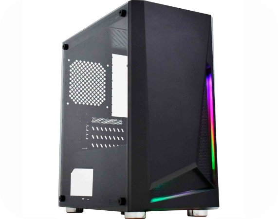 Pc Gamer Amd 3200G, Memória 4Gb, Ssd 120Gb Adata, Mb Gigabyte A320M-S2H, Gabinete Kmex Cg-01Kt, Fonte Atx 450 W Cooler