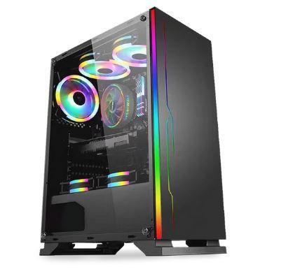 Pc Gamer Intel 9100F, Memória 8Gb, Ssd 120Gb Patriot, Mb Asrock H310Cm, Gabinete Bluecase Bg-028, Fonte 450, Vga Gt 220
