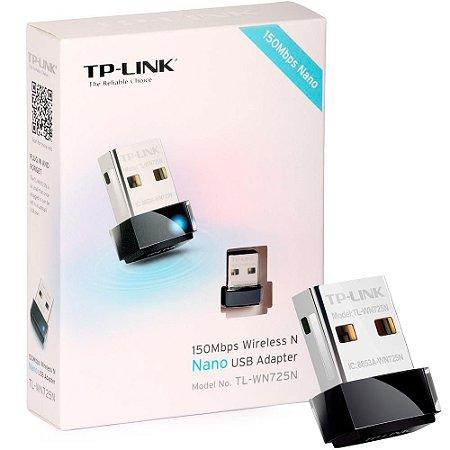 Adaptador Sem Fio Tp-Link Tl-wn725N, Usb, 150 Mbps