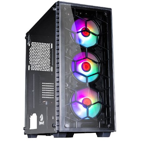 Pc Gamer Amd 3200G, Memória 16Gb Afox, Ssd 480Gb Wd, Mb Gigabyte A320M-S2H, Gabinete Redragon Gc-903, Fonte 500 Bluecase