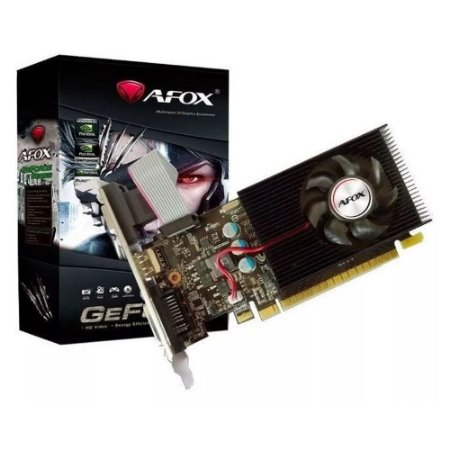 Placa De Vídeo Ddr3 2Gb/064 Bits Afox GT610, AF610-2048D3L7-V6(Ddr3)