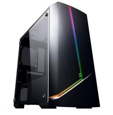 Pc Gamer Intel 9100F, Memória 8Gb Adata, Ssd 480Gb Wd, Mb Gigabyte H310M M.2, Gabinete Pixxo Cg11, Fonte 700, Vga Rx550