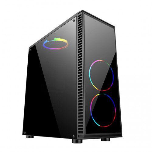 Pc Gamer Intel 9100F, Mem 8Gb King, Ssd 240Gb Afox, Mb Gigabyte H310M, Gabinete Bluecase Bg014, Fonte 700, Vga1660 Super