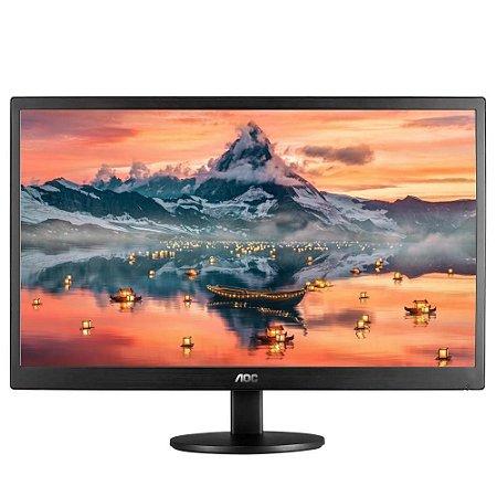 Monitor Led 18.5 Aoc E970Swhnl, 5ms, 60hz, Hdmi, Vga, Ajuste De Inclinação, Widescreen, Hd