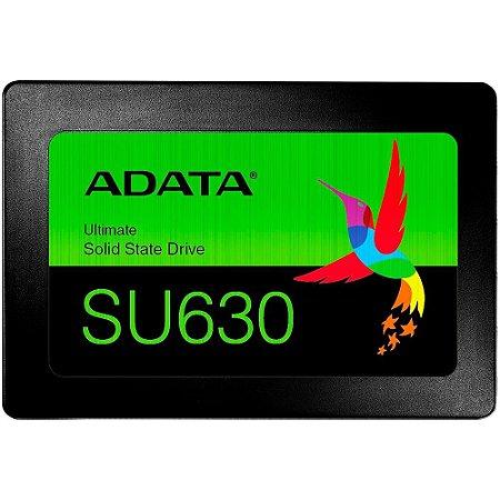Ssd Sata3 240 Gb Adata Asu630Ss-240Gq-R, Leitura 520Mb/S, Gravação 450Mb/S