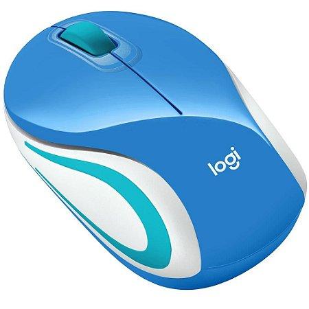 Mouse Sem Fio Logitech M187, Azul, 1.000 Dpi, 910-005360