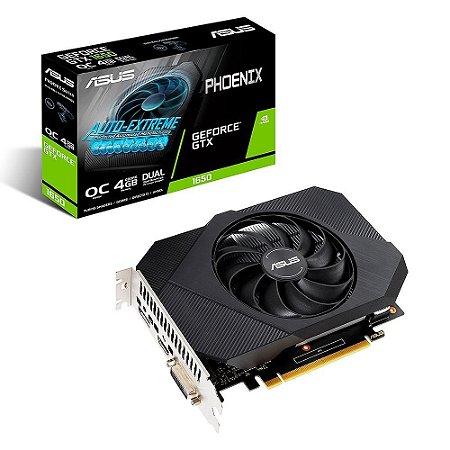 Placa De Vídeo Geforce Ddr6 4Gb/128 Bits Gtx 1650 Asus, Ph-Gtx1650-O4Gd6