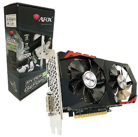 Placa De Vídeo Ddr5 4Gb/128 Bits Afox Gtx1050Ti, Af1050Ti-4096D5H2