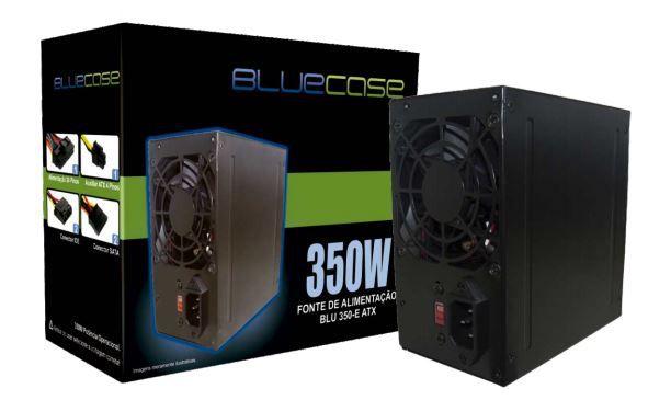 Fonte Atx 350 W Bluecase Blu350-E, Com Cabo, Com Caixa