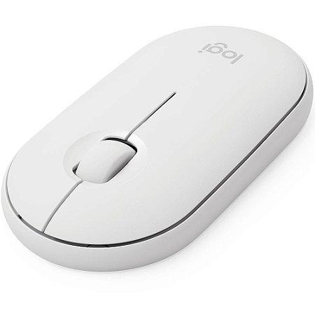 Mouse Sem Fio Logitech Pebble M350, Bluetooth, Branco, 910-005770