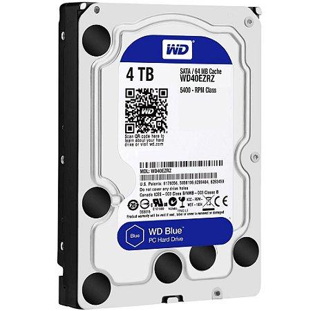 """Hd Desktop 4 Tb Western Digital Wd40Ezrz Blue, 5400 Rpm, Cache 64 Mb, 3.5"""", Sata 6 Gb/S"""