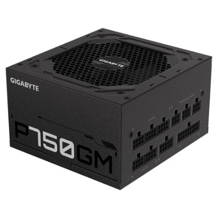 Fonte Atx 750 W Gigabyte Gp-P750Gm, 80 Plus Gold, Totalmente Modular, Gp-P750Gm