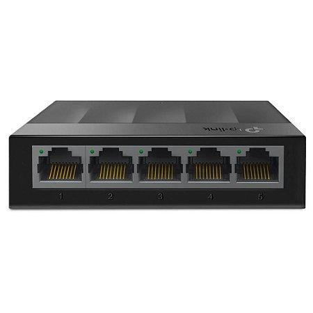 Switch 05 Portas Tp-Link Litewave Ls1005G, Gigabit 10/100/1000 Mbps, Case Plástico