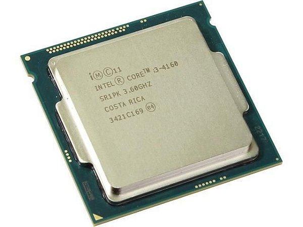Processador 1150 Intel 4ª Geração Core I3-4160, 3.6Ghz, 3Mb, Oem, Sem Cooler