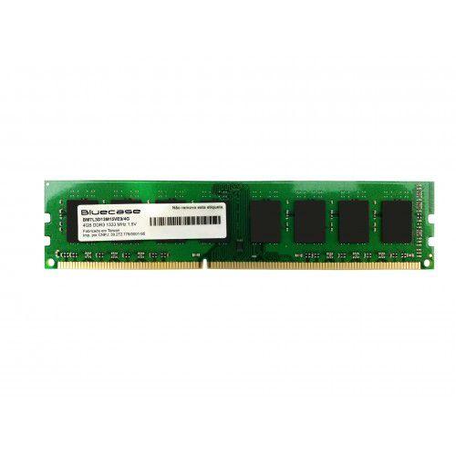 Memória Desktop Ddr3 4Gb/1333 Mhz Bluecase, Bmtl3D13M15Ve9/4G