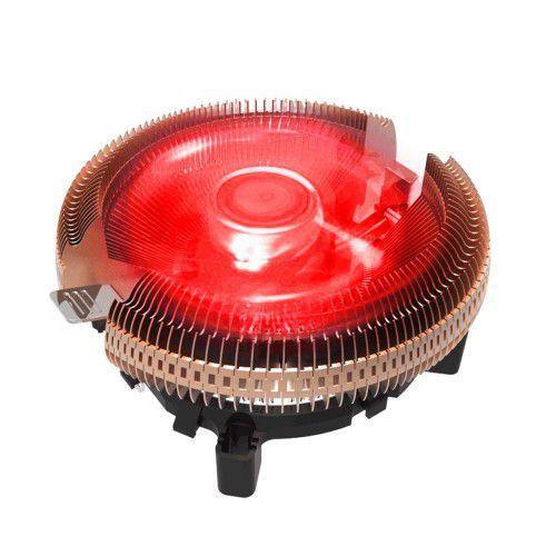 Cooler Universal Para Processador, Intel E Amd, Bluecase Bc-02Uar, Alumínio, Com Led Vermelho