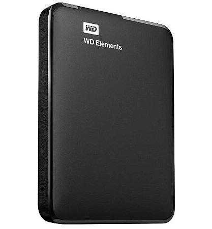 Hd Externo 1 Tb Western Digital Elements, Usb 3.0, Wdbuzg0010Bbk