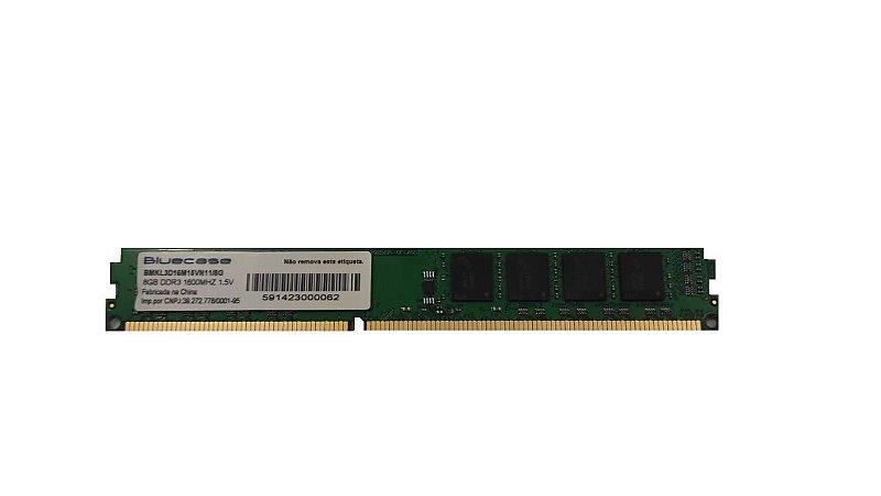 Memória Desktop Ddr3 8Gb/1600 Mhz Bluecase Bmkl3D16M15Vn11/8G, 1.5V