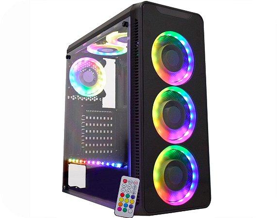 Pc Gamer Intel I3-10100F, Gigabyte H410M H, Ssd 480Gb Wd, Mem. 16Gb Afox, Gab. Kmex 05G8, Fonte 600, Rx570