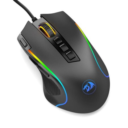 Mouse Gamer Redragon M612-Rgb, 8.000 Dpi, Predator