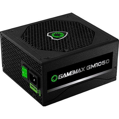 Fonte Atx 1050 W Gamemax Gm1050, 80 Plus Silver, Com Pfc Ativo, Semi Modular, Com Cabo, Preta