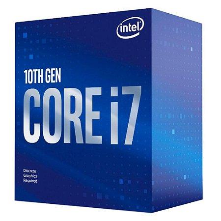 Processador 1200 Intel 10ª Geração Core I7-10700F, 2.9 Ghz (4.8 Ghz Max), Cache 16 Mb, Sem Vídeo