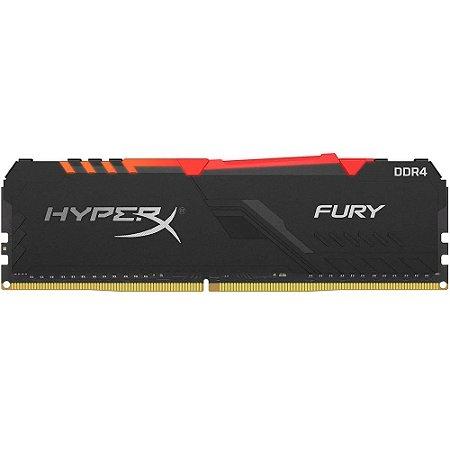 Memória Desktop Ddr4 8Gb/3000 Mhz Kingston Hyperx Fury Gamer Black Hx430C15Fb3A/8, Rgb