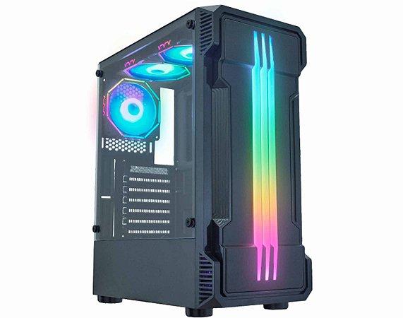 Pc Gamer Intel I5-10400F, Gigabyte H410M, Ssd 480Gb Kingston, Mem. 8Gb Xpg, Gab. Kmex 01Kb, Fonte 450 Corsair, Gtx1050Ti