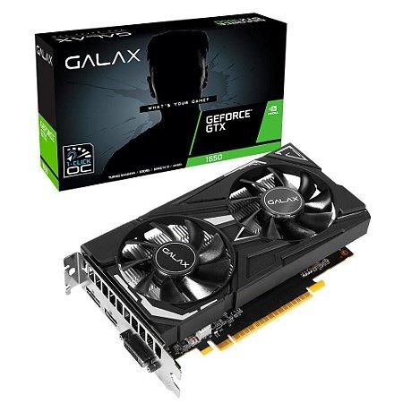 Placa De Vídeo Geforce Ddr6 4Gb/128 Bits Gtx 1650 Galax, 65sql8ds66e6, Dp+Hdmi+Dvid