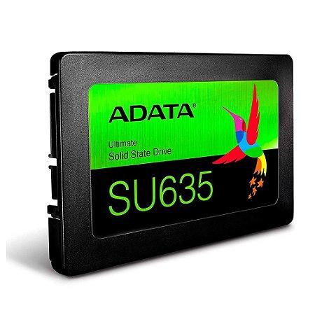 Ssd Sata3 480 Gb Adata Asu635Ss-480Gq-R, Lê: 520 Mb/S, Grava: 450 Mb/S