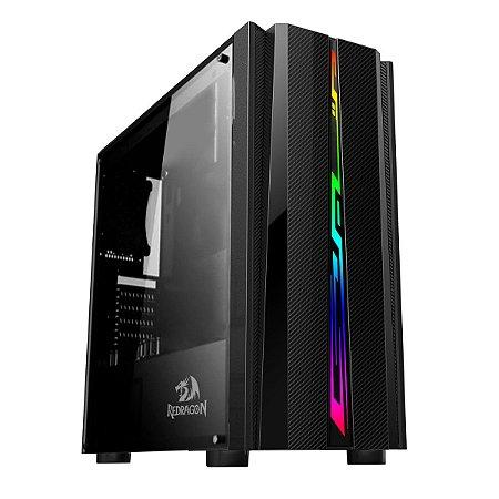 Pc Gamer Intel I3-9100, Asus Tuf B360M, Ssd 240 Gb Kingston, Mem. 8 Gb Xpg, Gabinete Redragon 520, Fonte 450 W Corsair