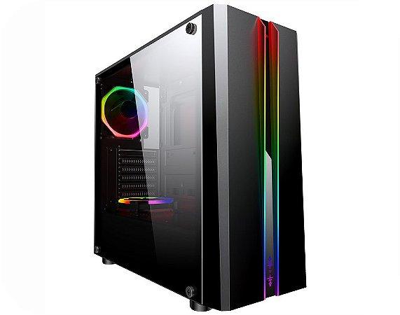 Pc Gamer Intel I3-9100, Gigabyte B360M, Ssd 480 Gb Lexar, Mem. 8 Gb Hyperx, Gabinete Kmex 04Rd, Fonte 550 W Gigabyte
