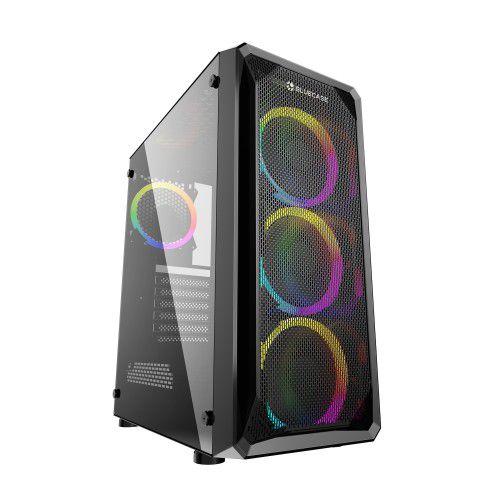Pc Gamer Intel I3-9100, Asus Tuf B360M, Ssd 480 Gb Lexar, Mem. 8 Gb Xpg, Gabinete Bluecase Bg032, Fonte 450 W Corsair