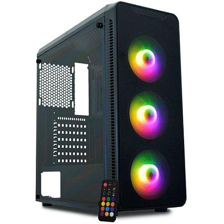 Pc Gamer Intel I3-9100, Gigabyte Z390M, Ssd 480 Gb Lexar, Memória 8 Gb Xpg, Gabinete Kmex A1G8, Fonte 450 Watts Corsair
