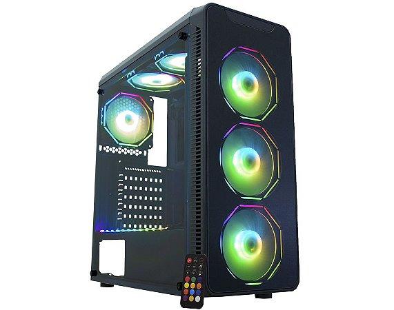 Pc Gamer Intel I3-9100, Gigabyte Z390M, Ssd 480 Gb Lexar, Mem. 16 Gb Corsair, Gabinete Kmex 08G8, Fonte 550 W Gigabyte