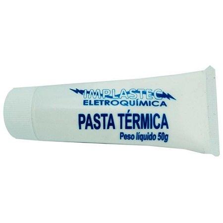 Pasta Térmica Md9 3383 Implastec, Bisnaga 50 Gramas, Branca