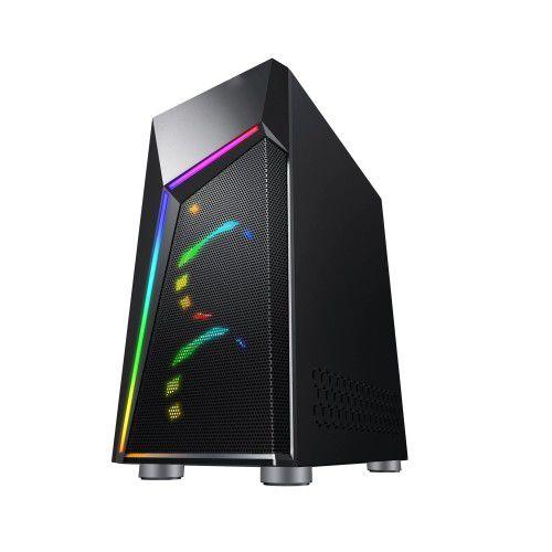 Pc Gamer Amd Ryzen 3400G, Asus A320M-K, Ssd 120Gb Crucial, Mem. 8Gb Hyperx, Gabinete Bluecase Bg020B, Fonte 550W Corsair