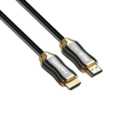Cabo Hdmi 30 Metros Plus Cable Pc-Hdmi300H, 2.0, 4K/3D, Conectores Banhados A Ouro, 18 Gb/S