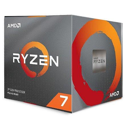 Processador Am4 Amd Ryzen 7 3700X, 3.6 Ghz, Max Turbo 4.4 Ghz, 32 Mb Cache, Sem Vídeo Integrado