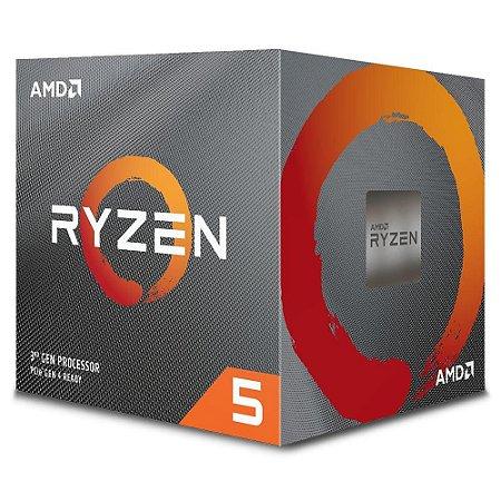Processador Am4 Amd Ryzen 5 3600X, 3.8 Ghz, Max Turbo 4.4 Ghz, 32 Mb Cache, Sem Vídeo Integrado