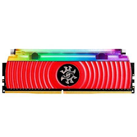 Memória Desktop Ddr4 8Gb/3200 Mhz Xpg Spectrix D80, Rgb, Cl16, Vermelho, Ax4U320038G16A-Sr80