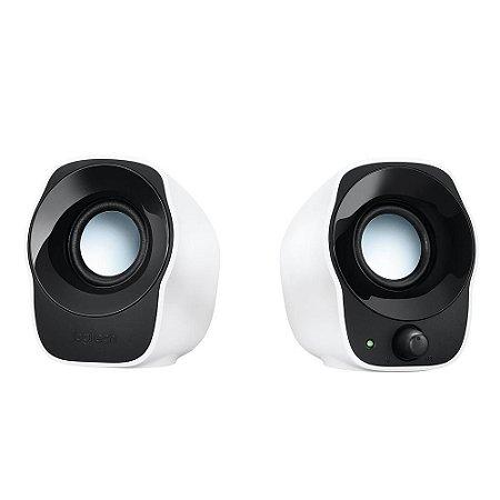 Caixa De Som Logitech Z120, 2 Watts Rms, Áudio 2.0, P2, Usb, Controle de Volume