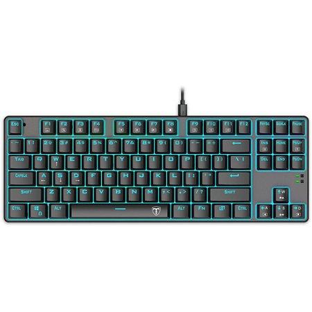 Teclado Gamer Mecânico T-Dagger T-tgk313-Bl, Switch Blue, Pt-White, Led Branco, Abnt2, Garantia
